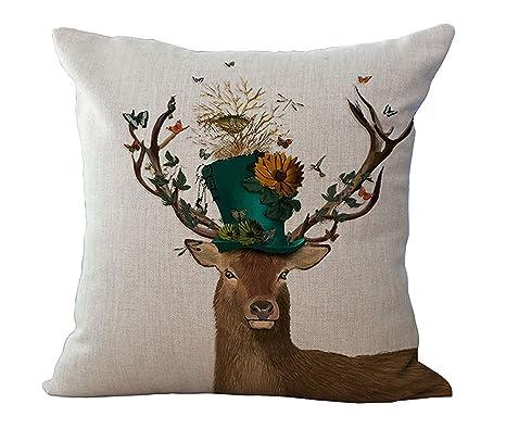 Ciervo casa de pájaros funda para cojín de animales barato ...