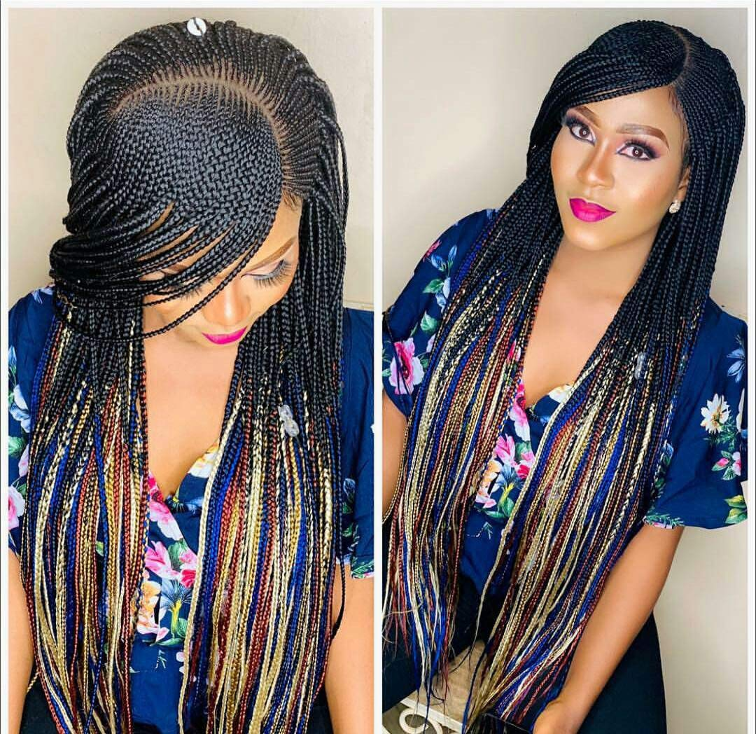 Amazon.com Ghana weaving, Braided wigs, cornrow wig, wigs