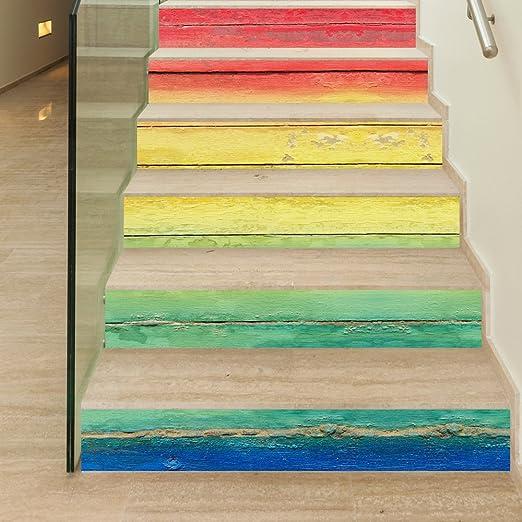 TZQT Escaleras Pegatinas Decoración para El Hogar Autoadhesiva Desmontable Pegatina Bricolaje Navidad Boda Cumpleaños,A-18cm*100cm: Amazon.es: Hogar