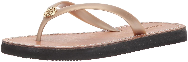 Bernardo Frauen Rubber Flache Sandalen Gold Rubber Frauen b23459