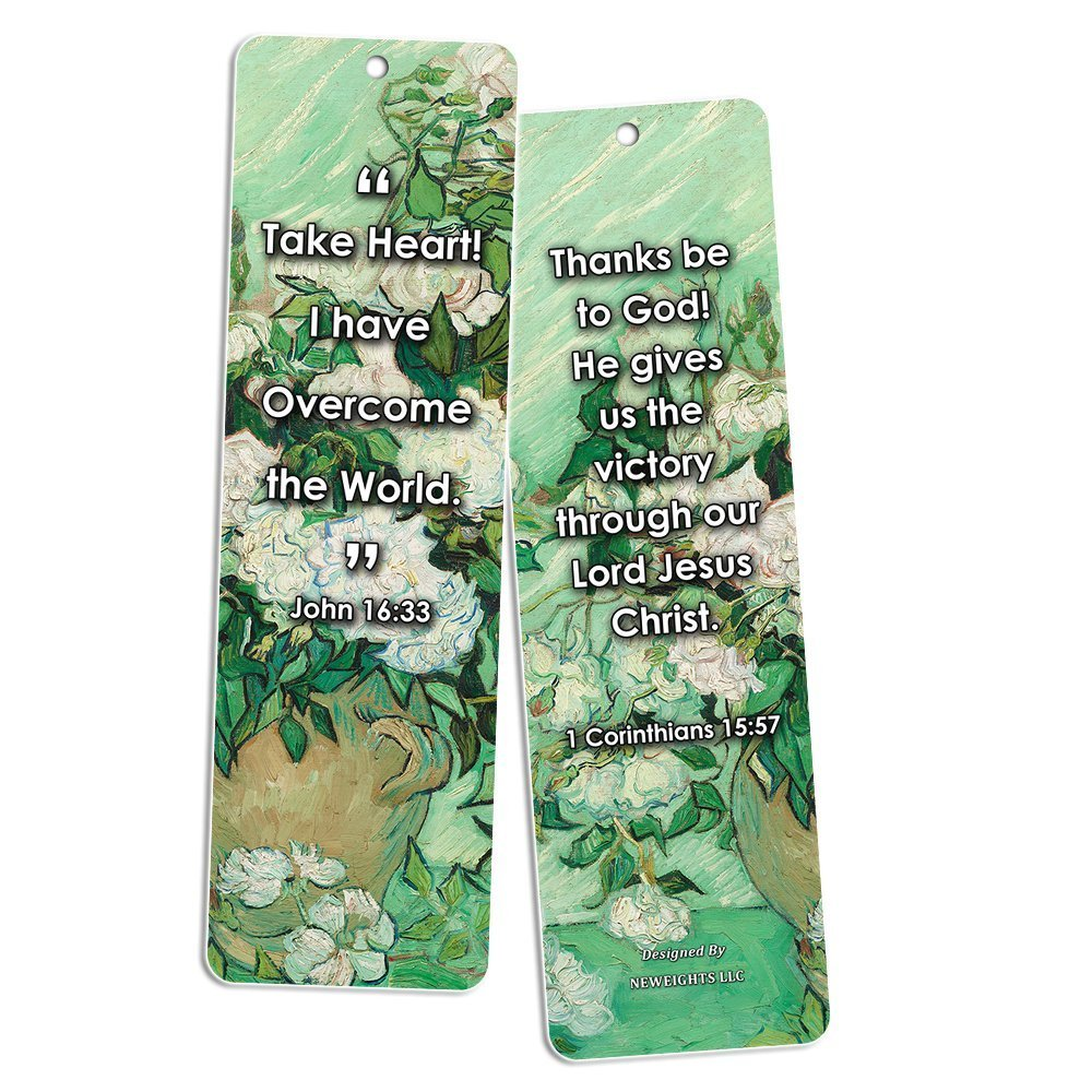 3baf53fd94 Amazon.com   Christian Bookmarks Cards - Jesus has Risen (60 Pack) - John  3 16 Scriptures - God s Love Living Faith - Great Stocking Stuffers for  Sunday ...