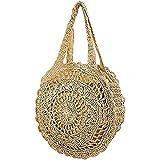 Donalworld Women Beach Bag Large Crochet Shoulder Summer Bag
