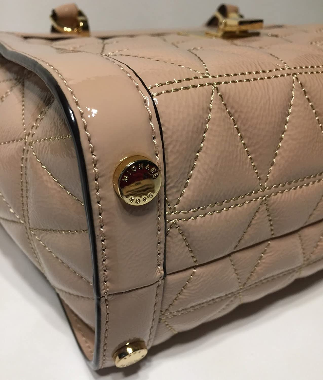 1bde01cd73b2 MICHAEL Michael Kors Vivianne SM TZ Messenger Quilted Handbag (Oyster Patent)   Handbags  Amazon.com