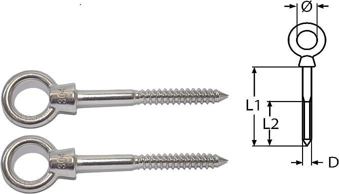 Tige filet/ée 30 cm inox A2