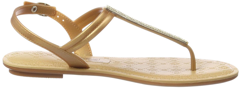 Sense Sandal Fem, Chanclas para Mujer, Multicolor (Beige/Gold 8353), 40 EU Grendha