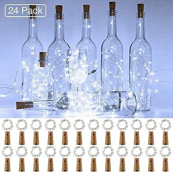 Onforu Luz Botella LED (24 Pack), 2m 20 LEDs Luz de Corcho ...