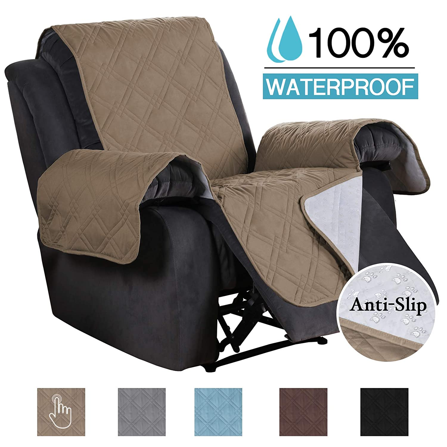 Fabulous Furniture Sofa Covers For Oversized Recliner Quilted 100 Waterproof Recliner Chair Cover For Living Room Non Slip Sofa Protector For Oversize Larger Customarchery Wood Chair Design Ideas Customarcherynet