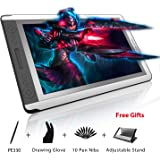 Huion Kamvas GT-156HD V2 8192 Pen Pressure Digital Graphics Drawing Tablet Monitor Pen Display with Upgraded 3-in-1 Cable 14 Express Keys and 1 Touch Bar