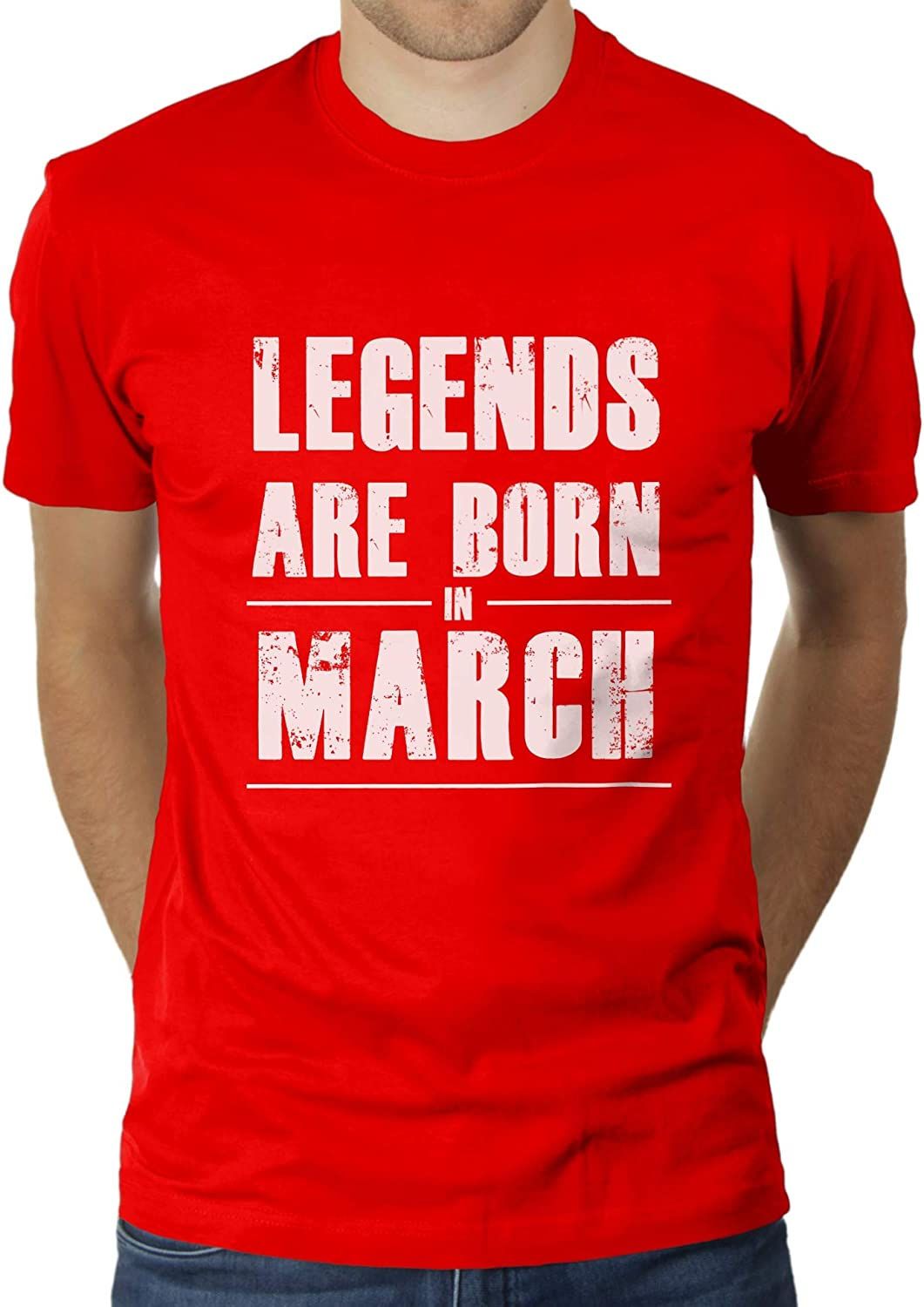 KaterLikoli Legends Are Born in March - Camiseta para hombre