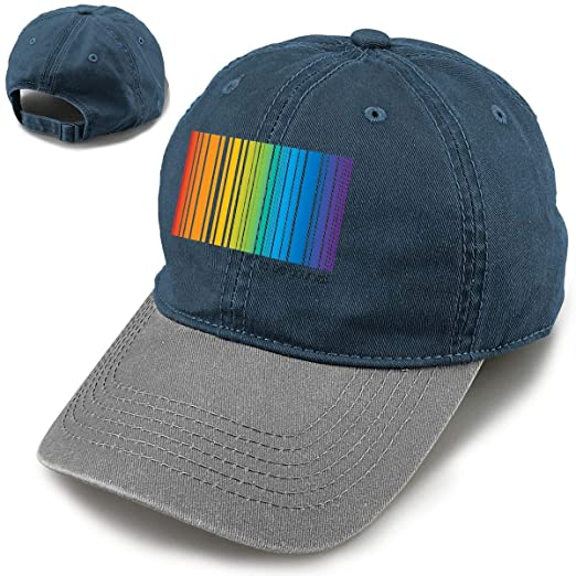 853026a52ea4e LGBT Pride Rainbow BaseballCap Running Cap at Amazon Men s Clothing ...