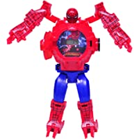Sandbox Party Spider Man Transformer Inspired Robot Cum Watch with Projector (Pack of 1)