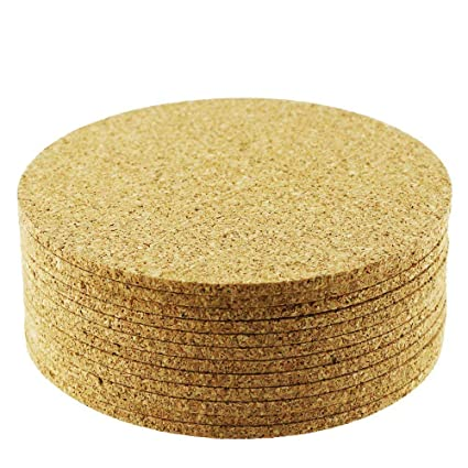 Amazoncom Yexpress Pcs Inch Round Cork Bar Coasters For Drink - Cork coaster bottoms