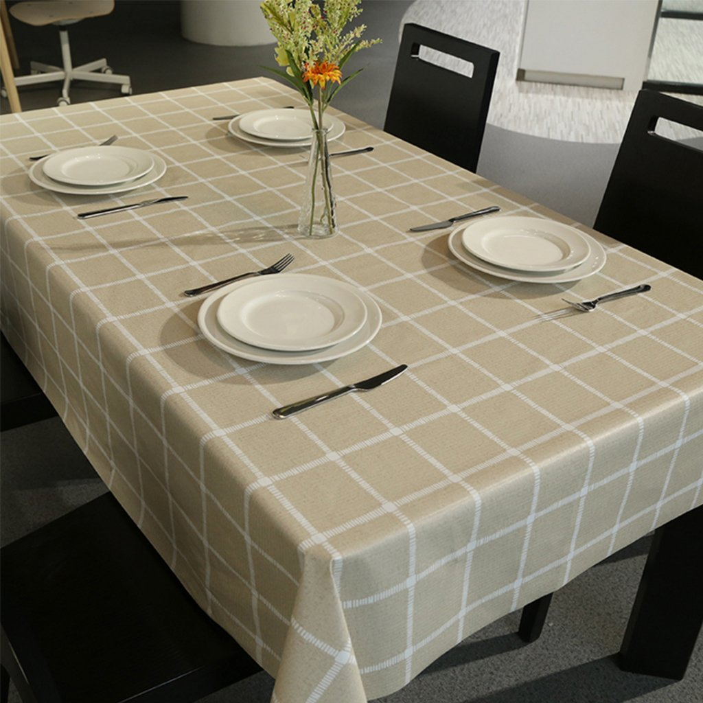 CHENGYI Stile di lattice modello Tovaglia PVC Moderno Semplice Salone Upscale Cucina Ristorante Hotel 137  220cm (Questo prodotto solo vende tovaglie)