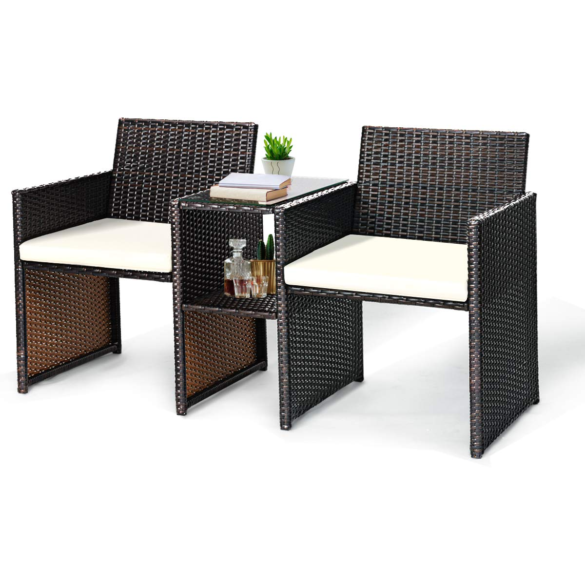 Tangkula Outdoor Furniture Set Paito Conversation Set
