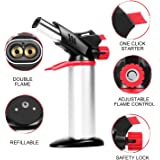 Toolsmart Refillable Kitchen Torch with Safety Lock and Adjustable Flame (Multicolour)