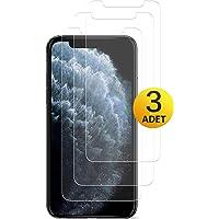 [3 Adet] Apple iPhone 11 Pro Kırılmaz Cam Ekran Koruyucu Mobilestore Tamperli Cam Ekran Koruyucu [9H Sertlik] [Hava Kabarcığı Bırakmaz]
