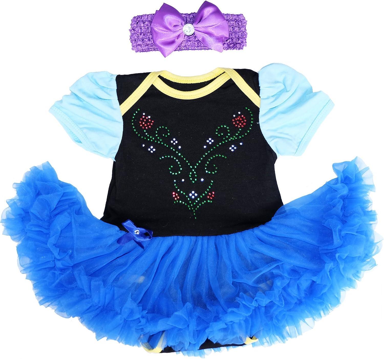 Baby Girl 3 Piece Disney Princess Superhero Tutu Bodysuit Fancy Dress Costume