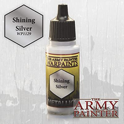 The Army Painter Warpaint, Shining Silver - Metallic Paint for Miniatures, 18 ml Dropper Bottle: Toys & Games