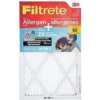 Filtrete MPR 1000D 16x25x1 Micro Allergen Plus Dust Pleated AC Furnace Air Filter, 1-Pack