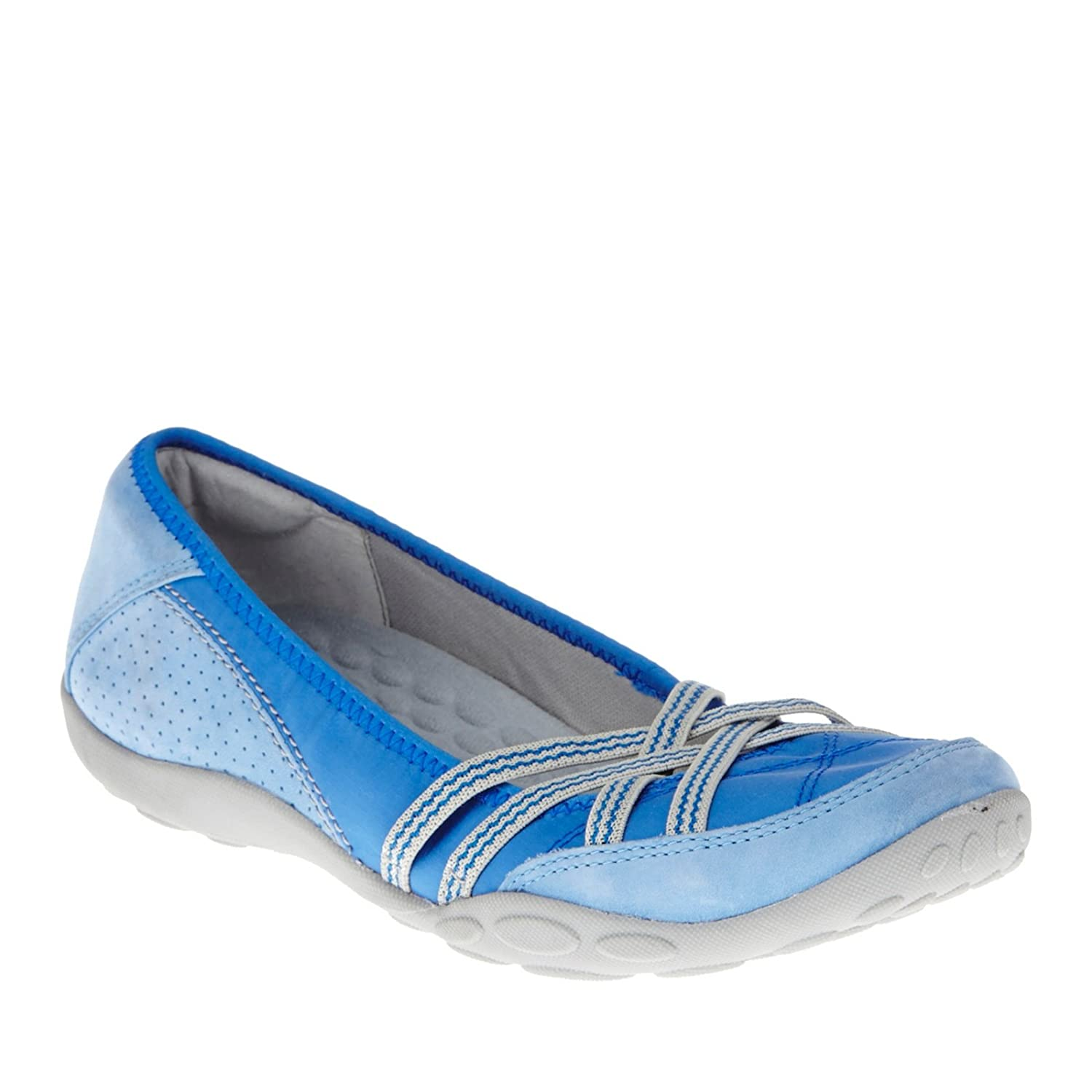 CLARKS Women's Haley Toucan Flat B00E6VO5AA 8 W US|Blue