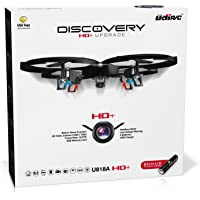 """Force1 Drones with Camera – """"UDI U818A Discovery"""" Camera Drone with 720p HD RC Quadcopter Drone Camera w/Micro SD Card + Power Bank and Bonus Battery"""