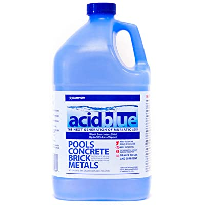 Acid Blue Muriatic Acid - Swimming Pool pH Reducer | Buffered, Low-Fume - 1 Gallon : Garden & Outdoor