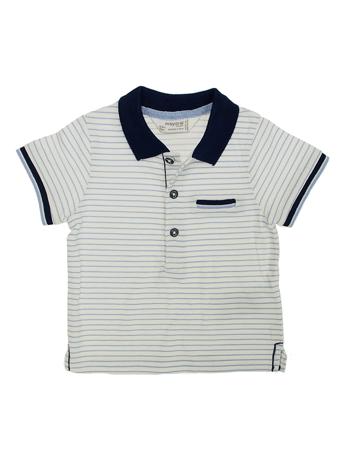 0147 Mayoral S//s Polo for Girls White