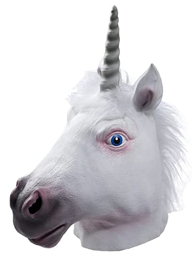e09770f8eb2 Amazon.com  Forum Novelties Men s Adult Latex Unicorn Mask