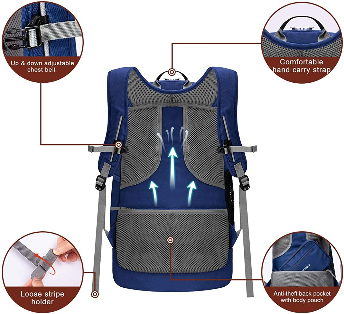 Travel Hiking Adansonia Foldable Outdoor Backpack for Daily Anti Theft Design and Super Durable