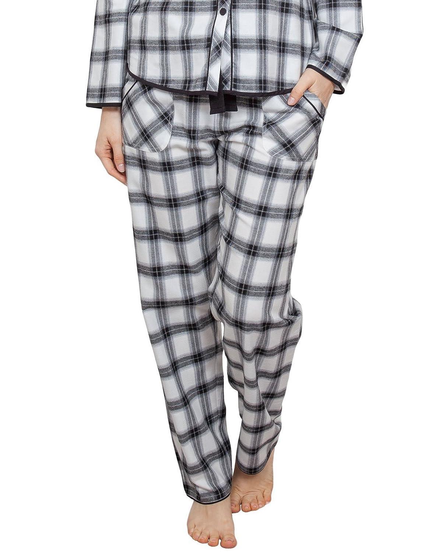 TALLA 36. Cyberjammies 3823 Women's Mae Black Check Pajama Pyjama Pant