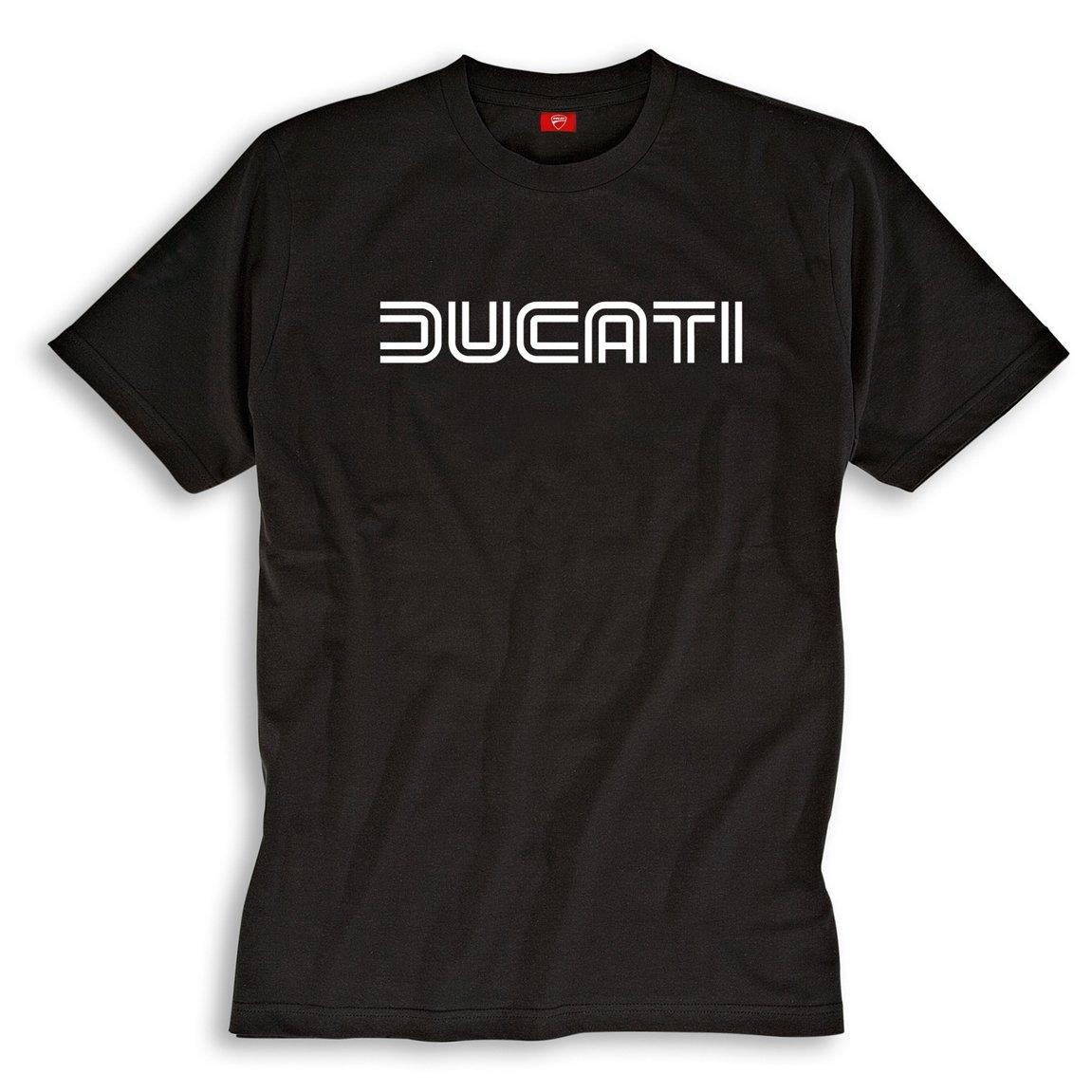Ducati Ducatiana 80's Eighties Short Sleeve T-Shirt Black Medium