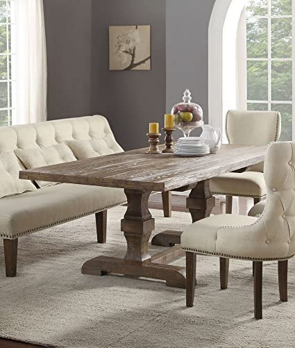 Amazoncom Acme Furniture Inverness Double Pedestal Dining Table