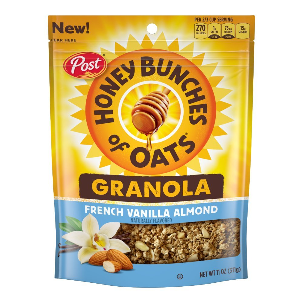 Post Honey Bunches of Oats Honey Roasted Granola, French Vanilla Almond, 11 Ounce, 6 Count