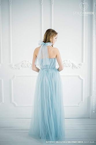 Convertible Dusty Blue Bridesmaid Dress