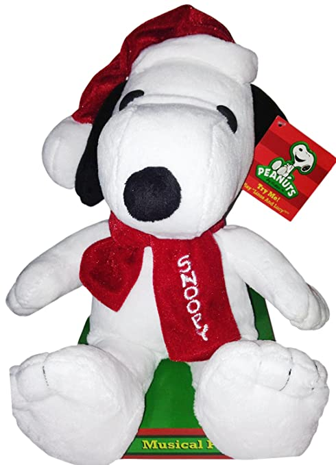 peanuts musical 12 snoopy christmas plush plays lucy and linus song - Snoopy Christmas Song