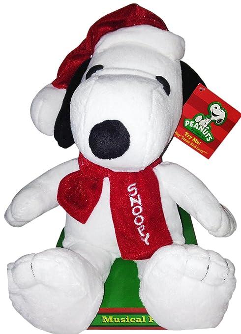 peanuts musical 12 snoopy christmas plush plays lucy - Christmas Plush Toys