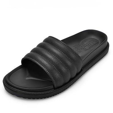 909ea3343a1d Earsoon Slide Sandals for Men Women Beach Pool Slippers Unisex Flip Flops  House Outdoor Sport Athelic