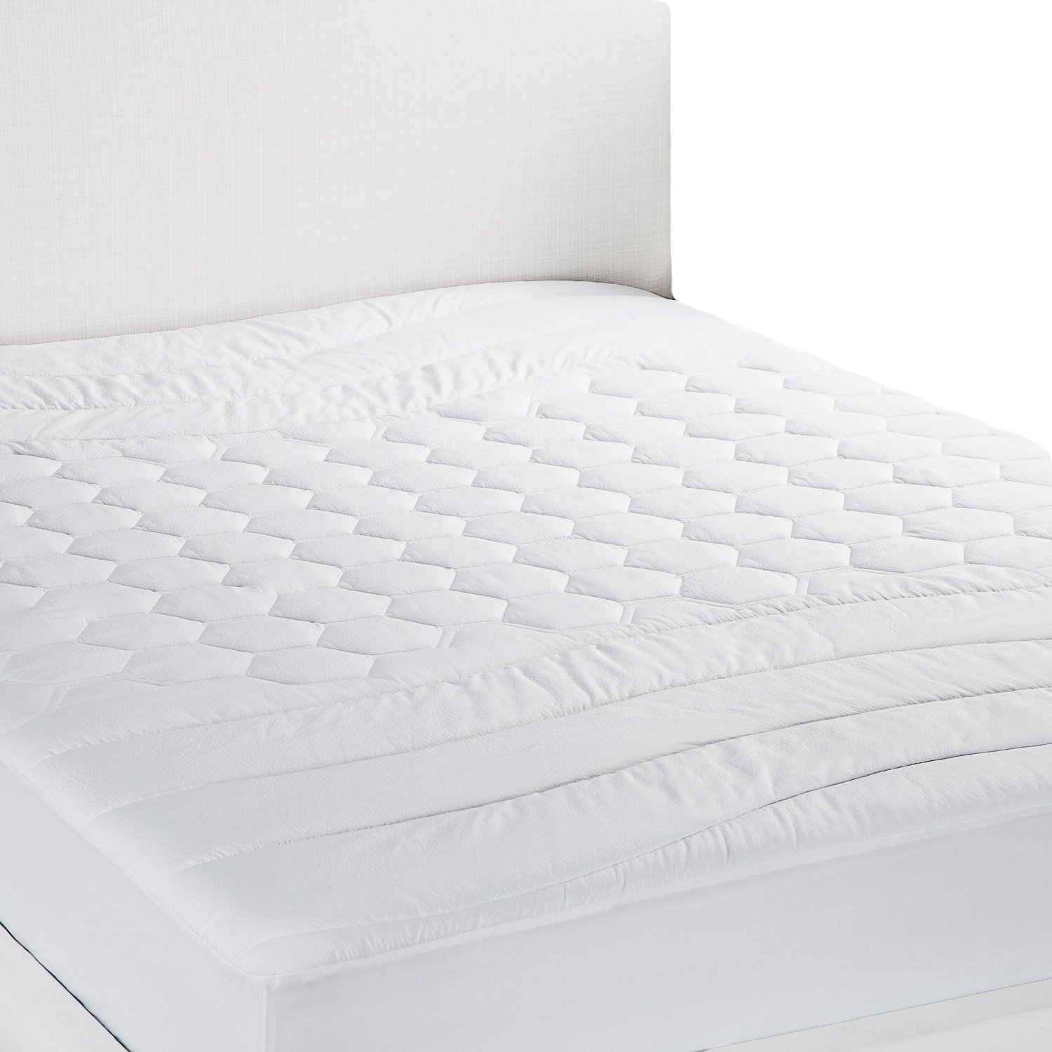 Mattress Pad King Size Hypoallergenic - Antibacterial, Breathable - Ultra Soft Quilted Mattress Protector