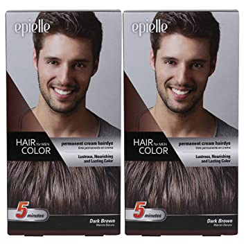 Dark brown hair color male