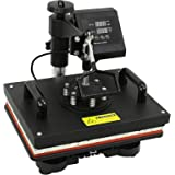 "ZENY Heat Press 12"" x 15"" Pro 6 in 1 Combo Heat Press Machine Digital Multifunction Transfer Sublimation T-Shirt /Mug /Hat /Plate"