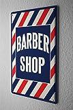 Plaque Émaillée salon de coiffure Publicité Signes En Métal 20X30 cm