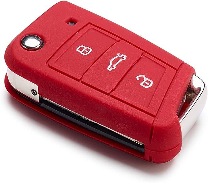 Volkswagen Original Vw Golf 7 5g Schlüsselcover Zündschlüssel Blende Hülle Schlüssel Cover Rot 000087012al041 Auto