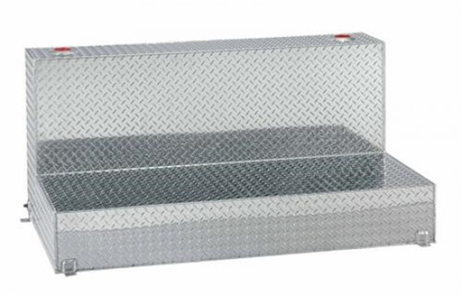 Lund 3248 48-Gallon L-Shaped Aluminum Liquid Storage Tank, Diamond Plated, Silver