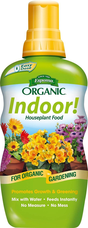 Espoma Indoor! Liquid Plant Food, Natural & Organic Houseplant Food, 8 fl oz, Pack of 6