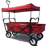 Red Folding Utility Cart Wagon. Cart Transports