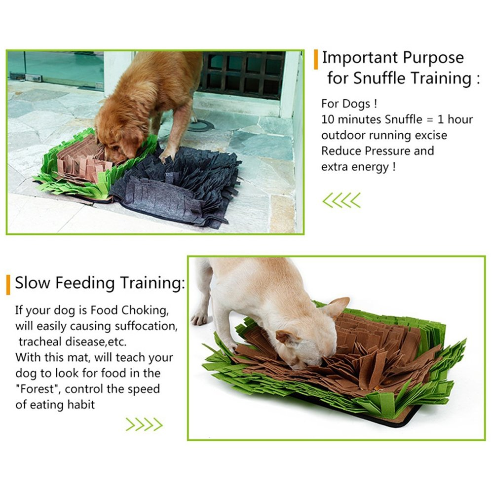 Pet Snuffle Mat Feeding Mat for Dogs Encourages Natural Foraging Skills Nosework Blanket Dog Training Mats Durable and Machine Washable Dogs Puzzle Toys by DogLemi (Image #8)