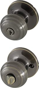 Honeywell 8101101 Classic Entry Door Knob, Antique Brass