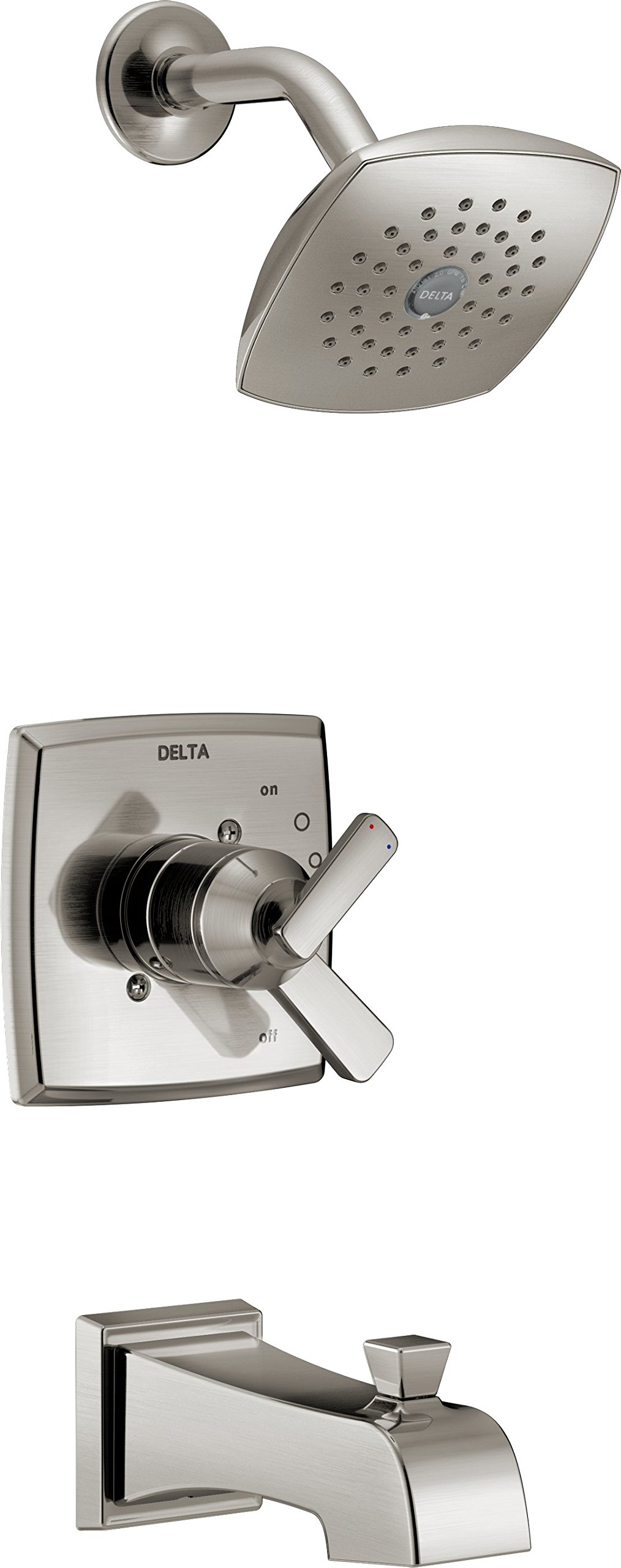 Delta T17464-SS Ashlyn Monitor 17 Series Tub & Shower Trim, Stainless by DELTA FAUCET