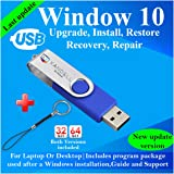 Compatible Windows 10 all Version Install To Factory Upgrade Recovery Repair Reinstall Clean Reboot Restore Fix Update…