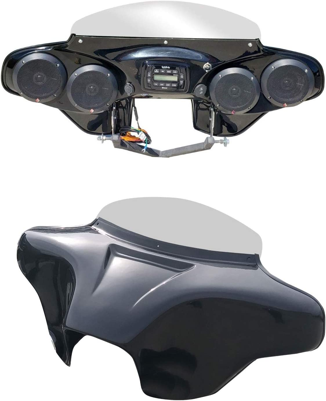Reckless Motorcycles Batwing Fairing for HD Road King with Stereo Speakers}